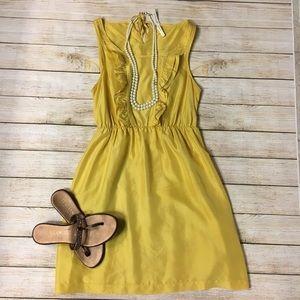 Maeve Silk Ruffle Front Dress